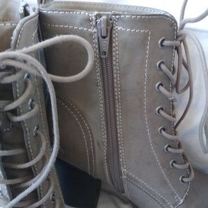 Express gray lace-up boots